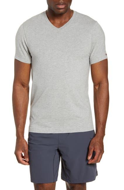 Image of RHONE Element V-Neck Heathered T-Shirt