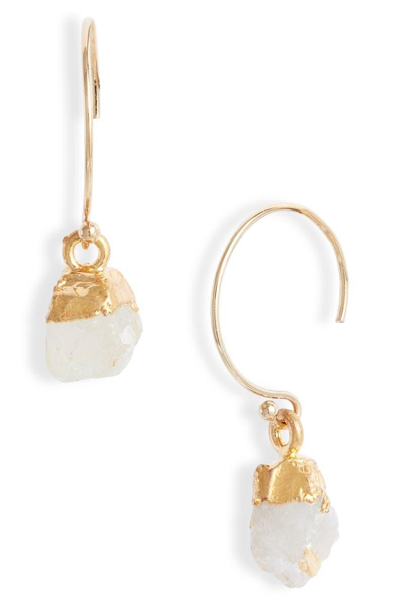 Semiprecious Stone Drop Earrings by Mend