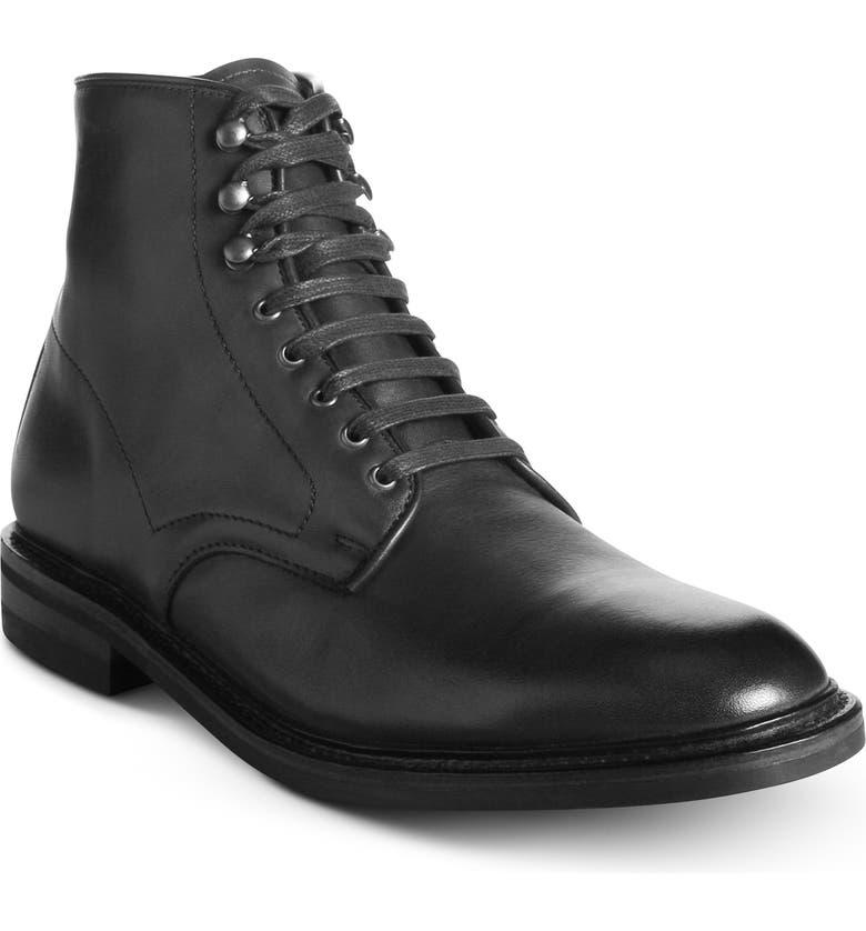 ALLEN EDMONDS Higgins Weatherproof Plain Toe Boot, Main, color, BLACK