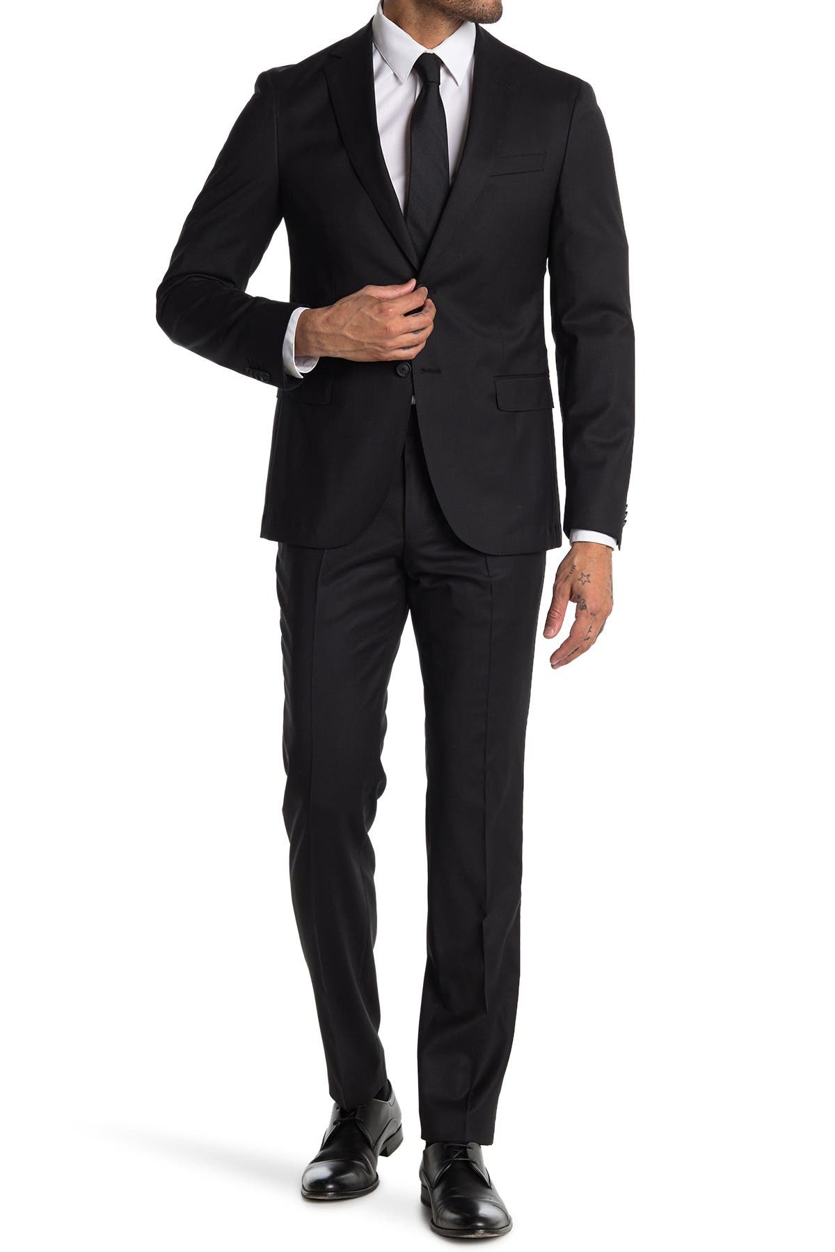 Image of BOSS Neight/Byte Wool Blend Suit