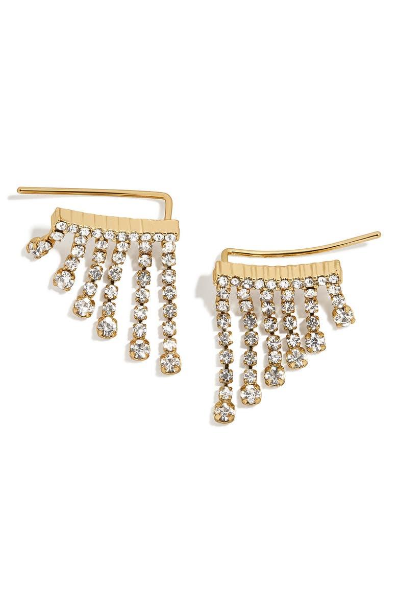 BAUBLEBAR BaubleBat Vela Crystal Fringe Earrings, Main, color, CLEAR/ GOLD