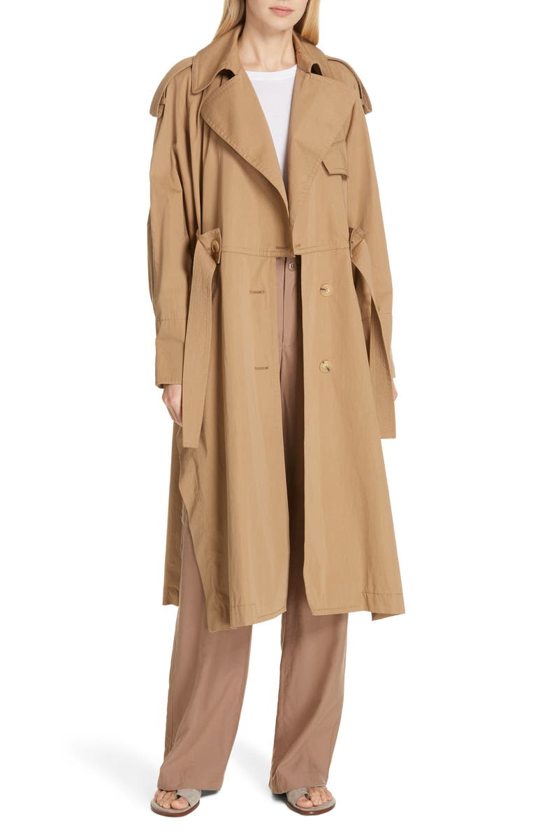 VINCE Long Trench Coat, Main, color, 250