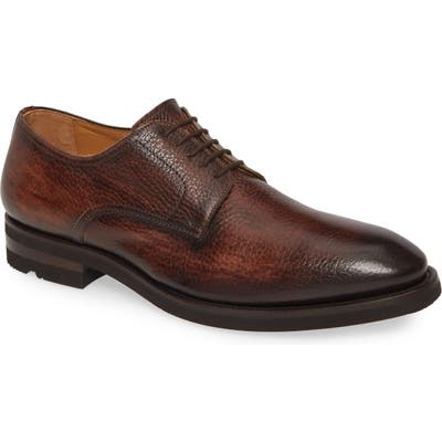 Magnanni Melich Ii Plain Toe Derby, Brown