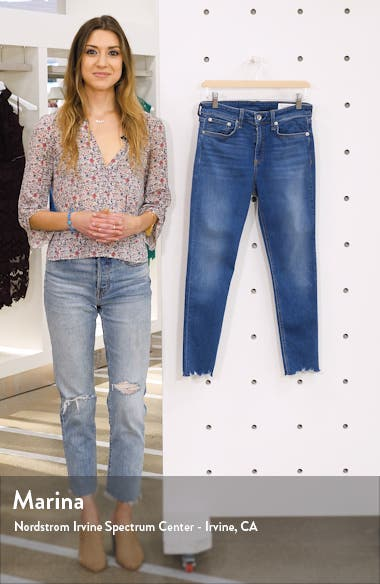 Cate Chewed Hem Crop Skinny Jeans, sales video thumbnail