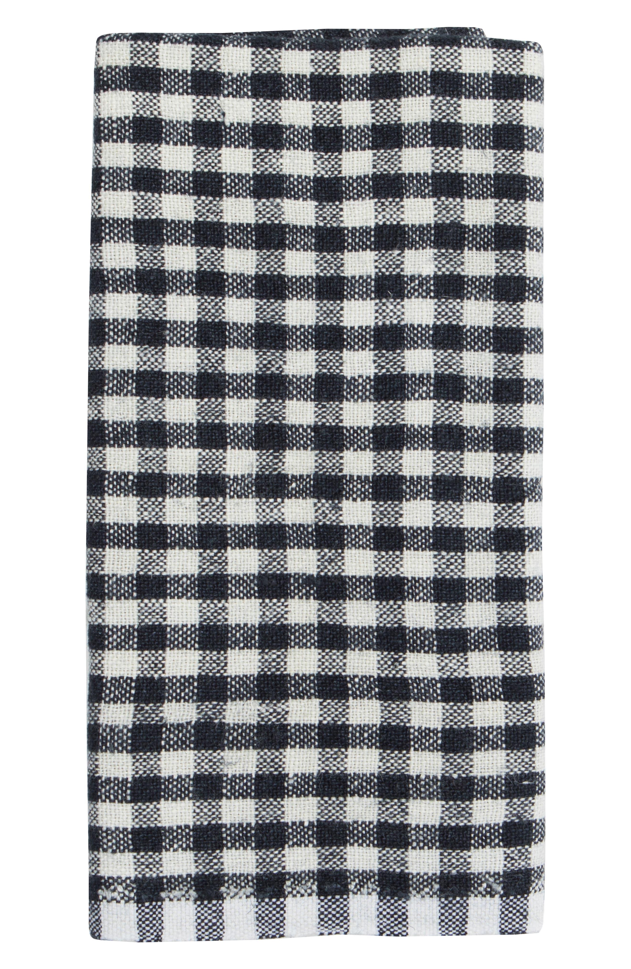 Caravan Set Of 2 Classic Gingham Tea Towels Size One Size  Blue