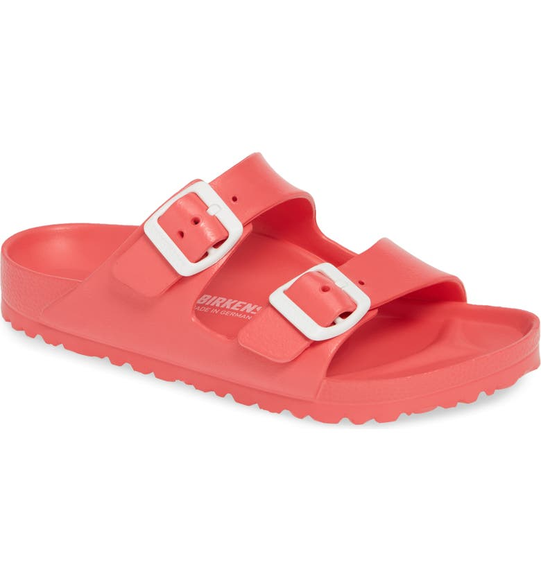 BIRKENSTOCK Essentials - Arizona Slide Sandal, Main, color, CORAL EVA