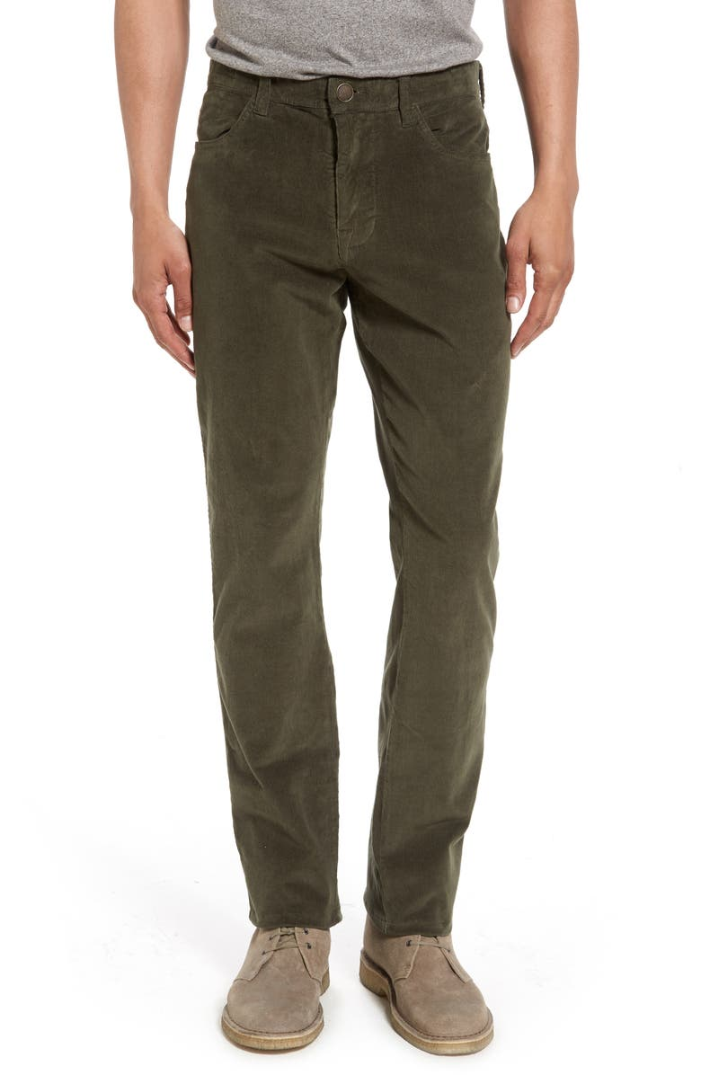 VINTAGE 1946 Modern Fit Stretch Corduroy Pants, Main, color, MOSS