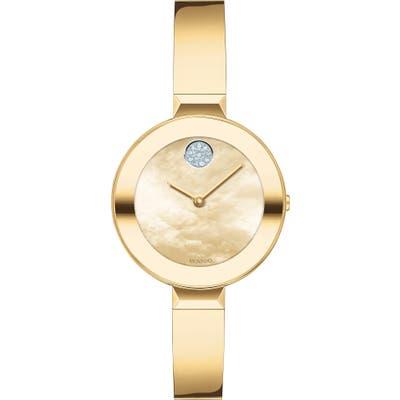 Movado Bold Pave Dot Bangle Watch, 2m