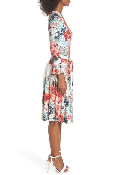 9f4e0e2c2df7 Leota Ilana Flounce Sleeve Tie Waist Dress | Nordstrom