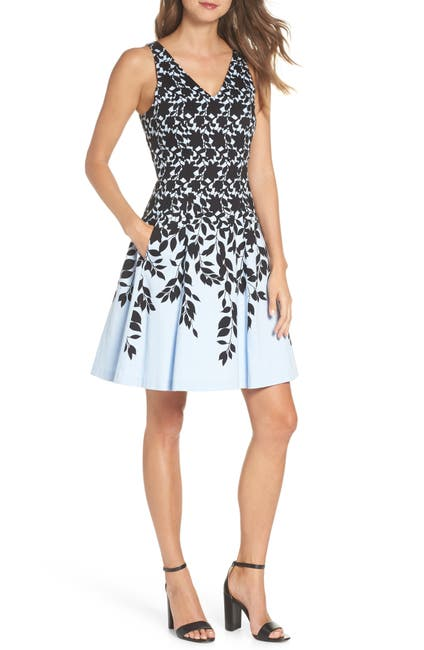 Image of Maggy London Print Fit & Flare Dress
