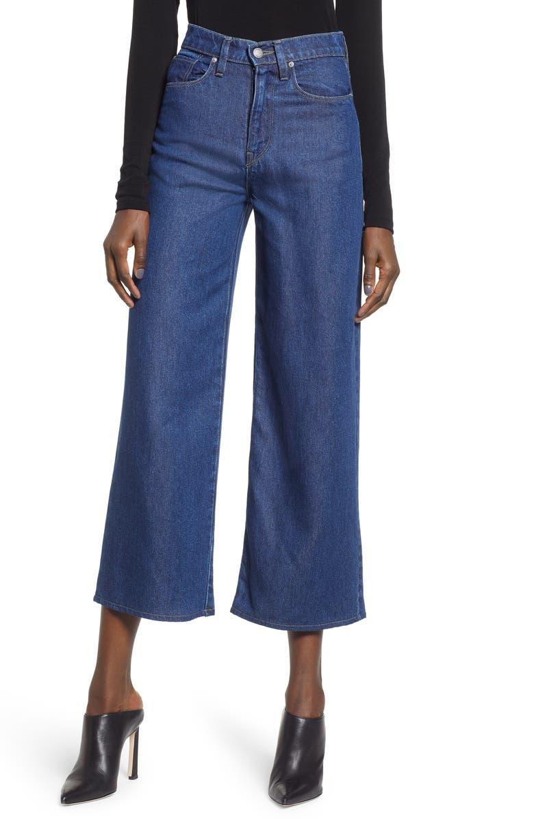 HUDSON JEANS Holly High Waist Crop Wide Leg Jeans, Main, color, 402