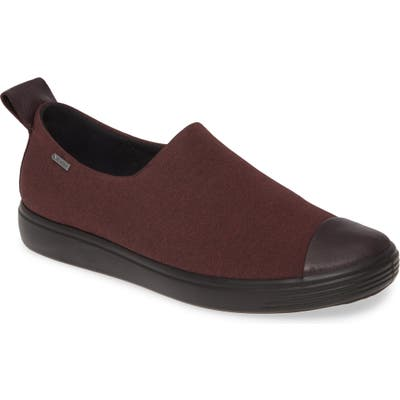 Ecco Soft 7 Gore-Tex Slip-On Sneaker, Burgundy
