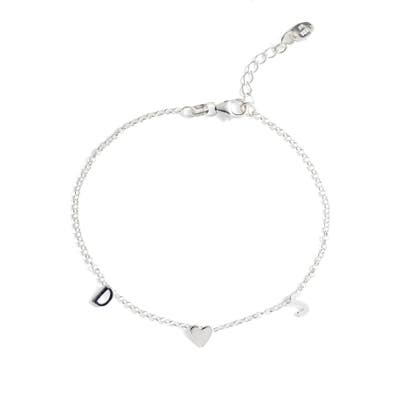 Argento Vivo Personalized Two Initial Bracelet