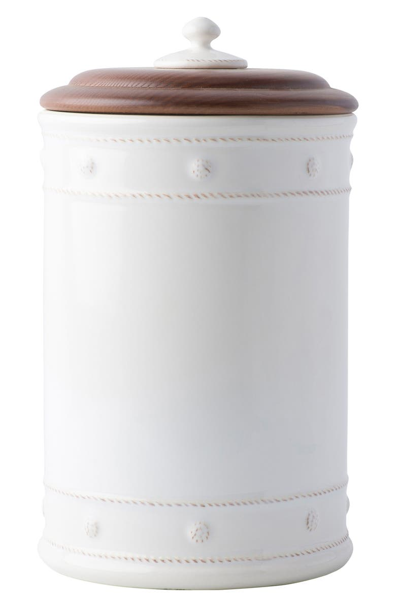 JULISKA Berry & Thread Whitewash Ceramic Canister, Main, color, WHITEWASH