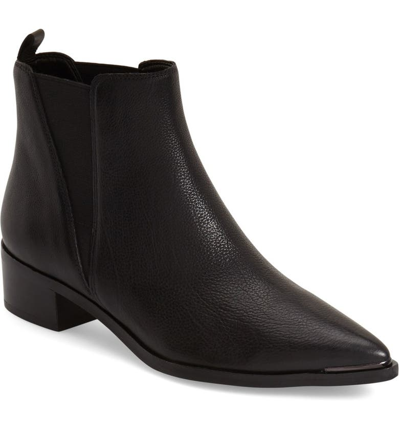 MARC FISHER LTD 'Yale' Chelsea Boot, Main, color, BLACK LEATHER