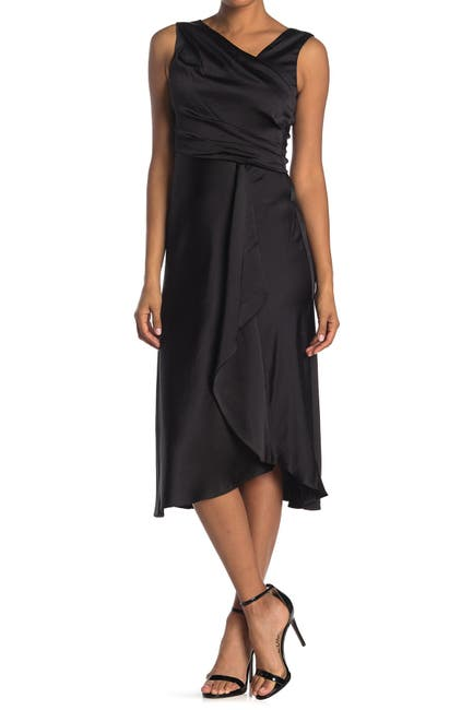 Image of Taylor Solid Satin Midi Dress