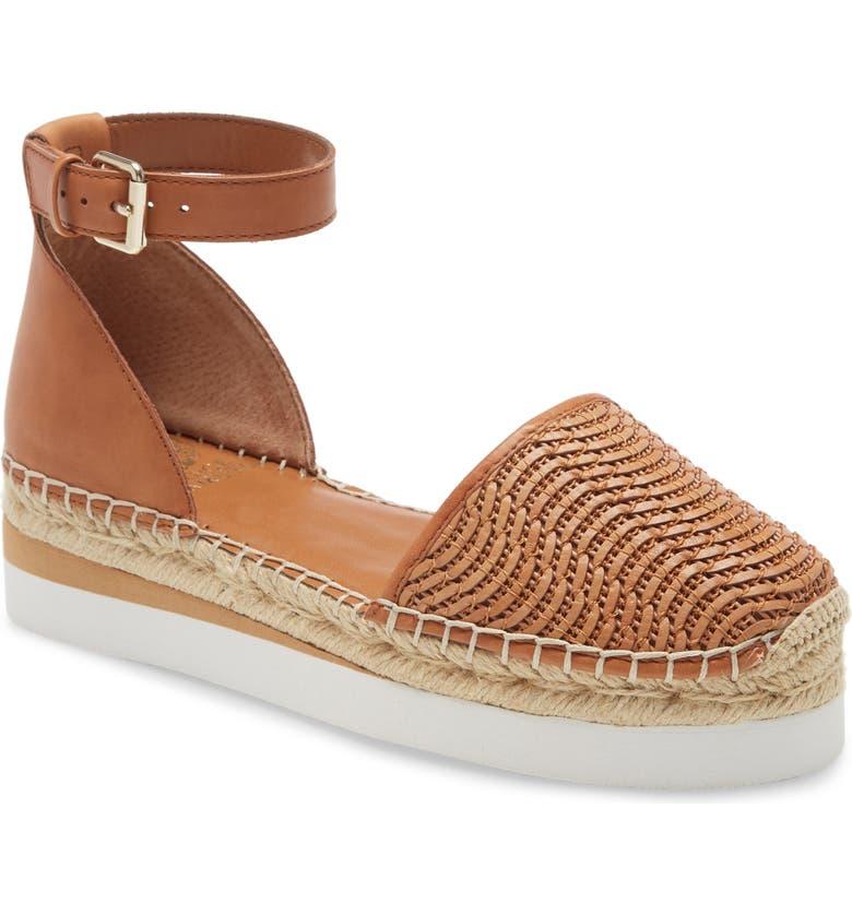 VINCE CAMUTO Brilesha Platform Sandal, Main, color, BRICK