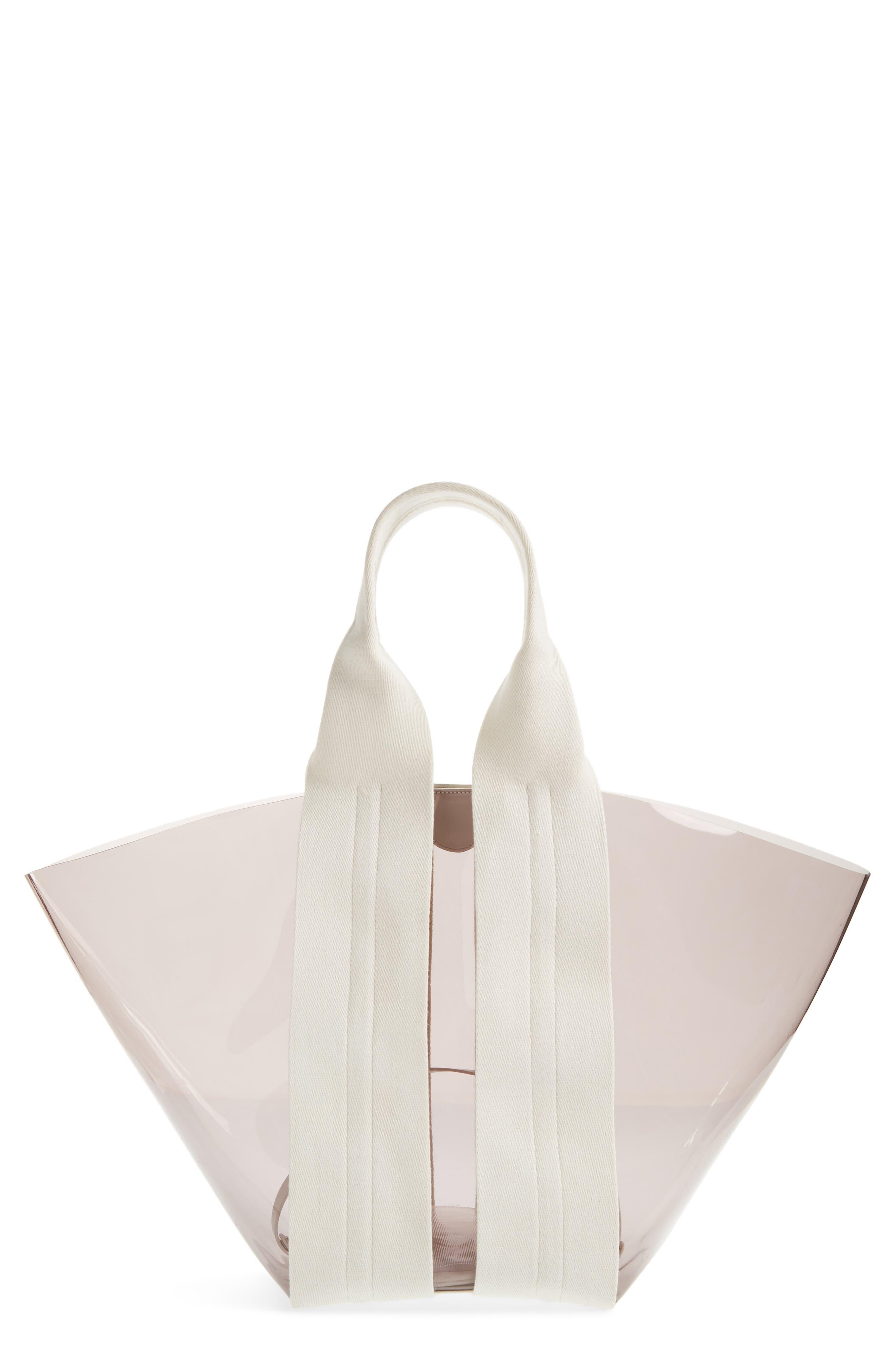 Image of Rebecca Minkoff Fan Clear PVC Tote Bag