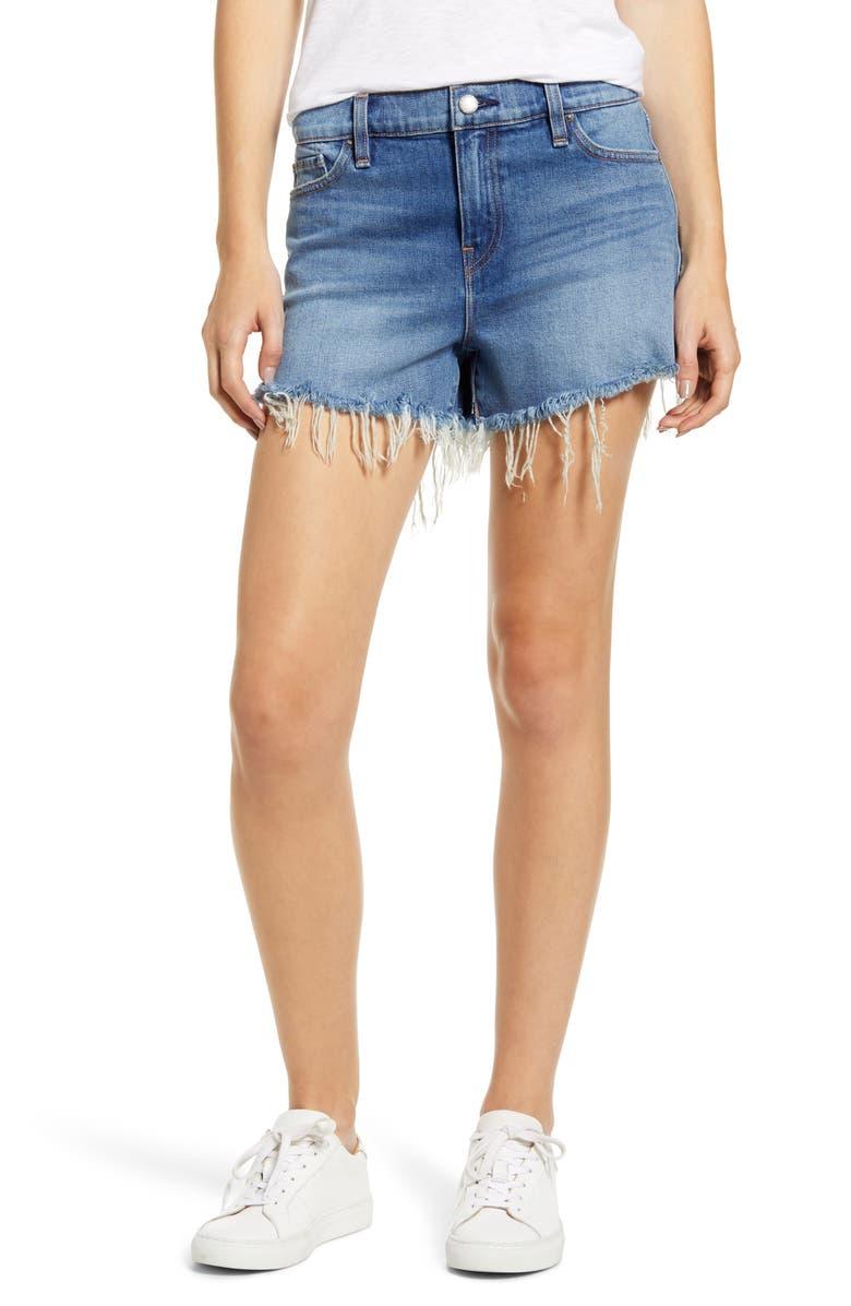 HUDSON JEANS Gemma Cutoff Denim Shorts, Main, color, REVERENCE DESTRUCTED