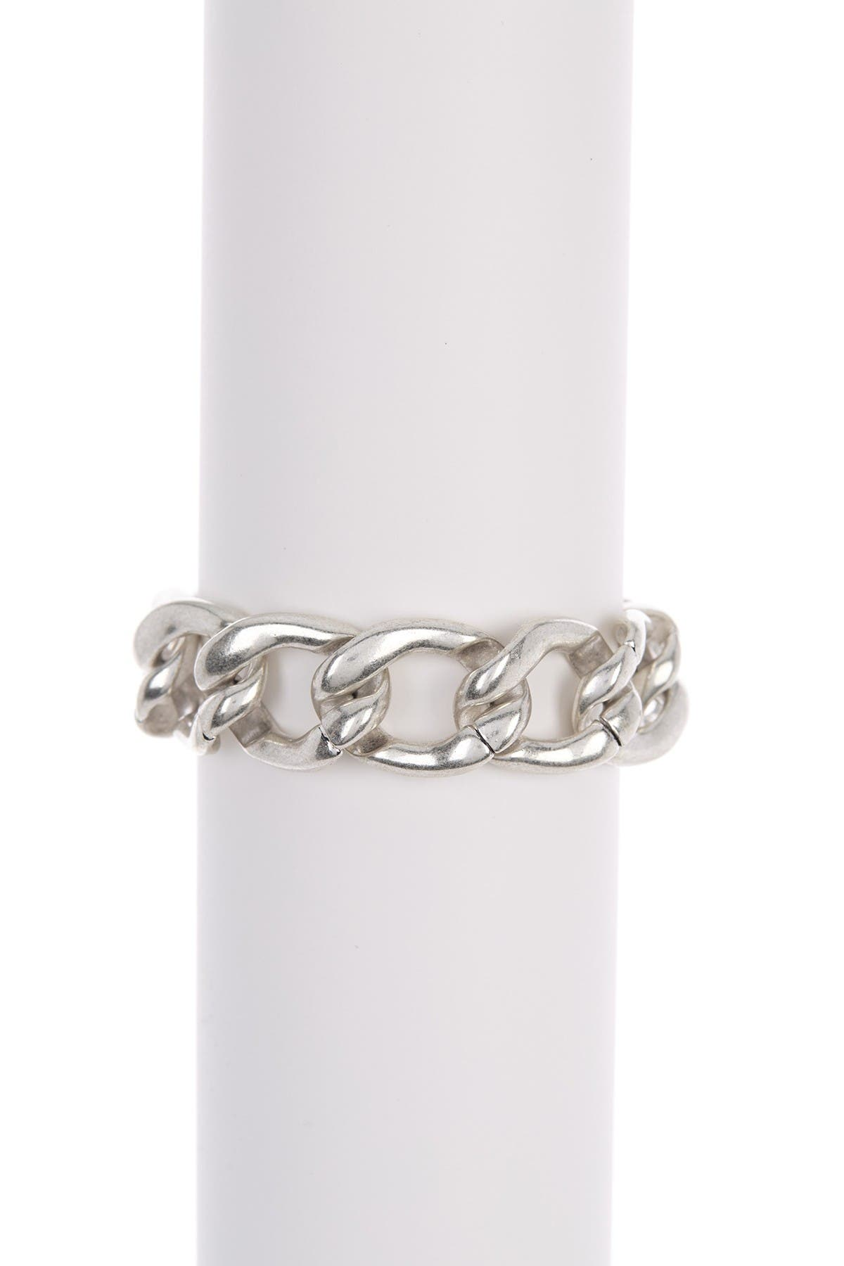 Image of Lucky Brand Silver-Tone Heavy Chain Bracelet