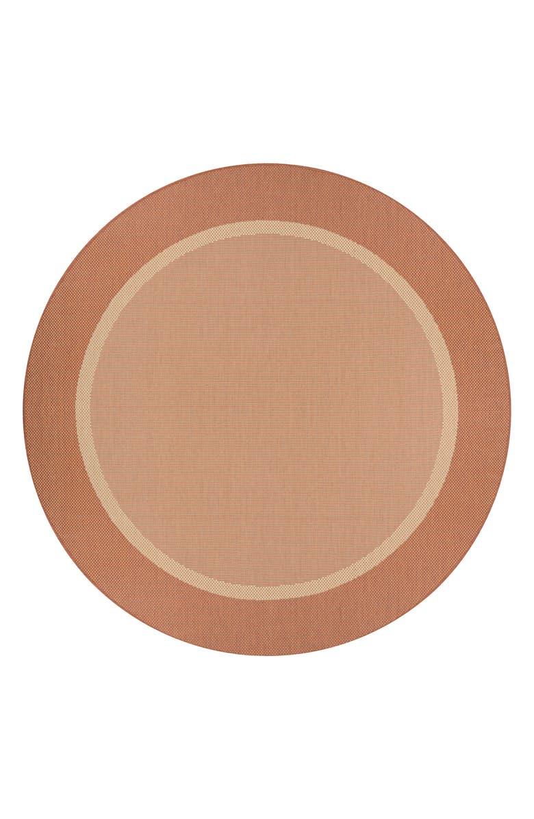 COURISTAN Stria Texture Indoor/Outdoor Rug, Main, color, NATURAL/ TERRA COTTA