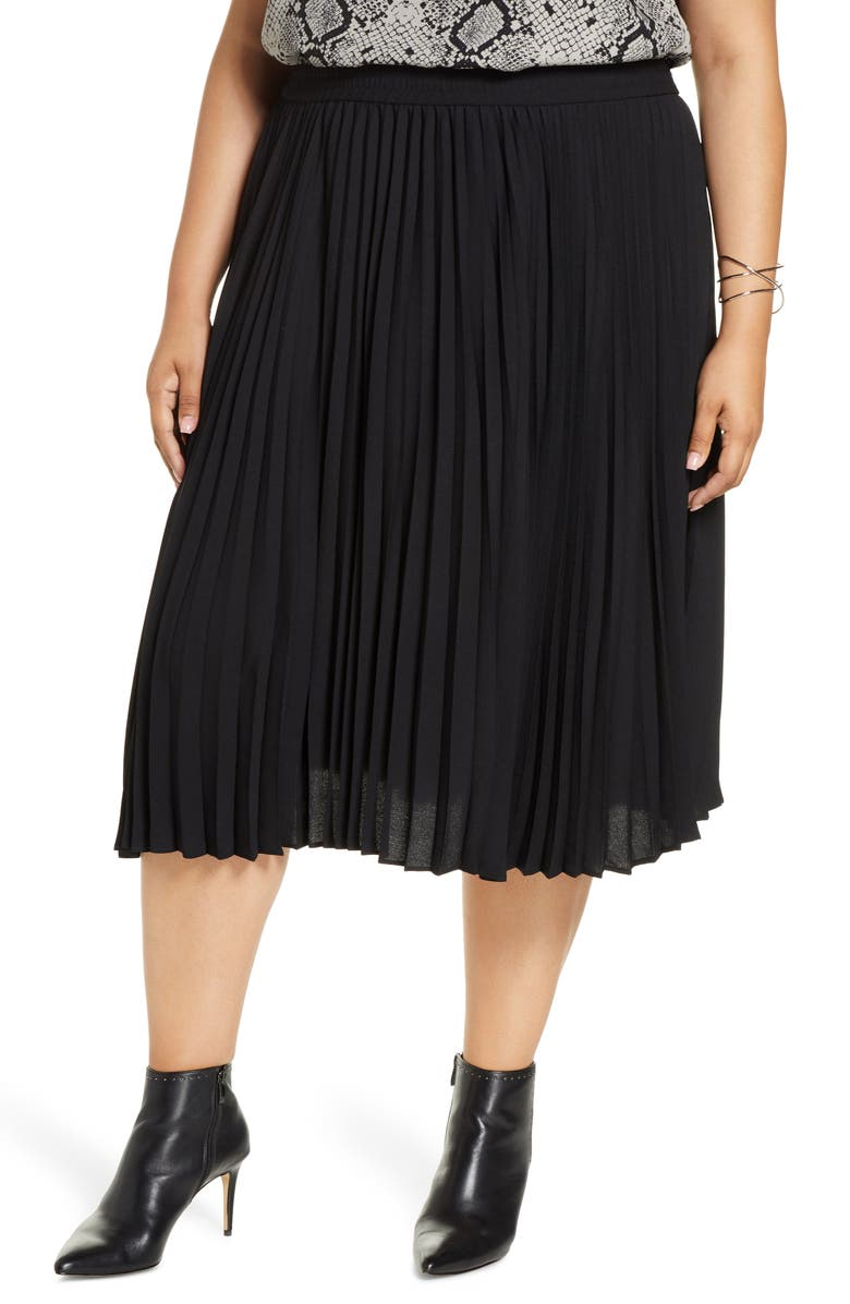 HALOGEN<SUP>®</SUP> Pleated Skirt, Main, color, 001