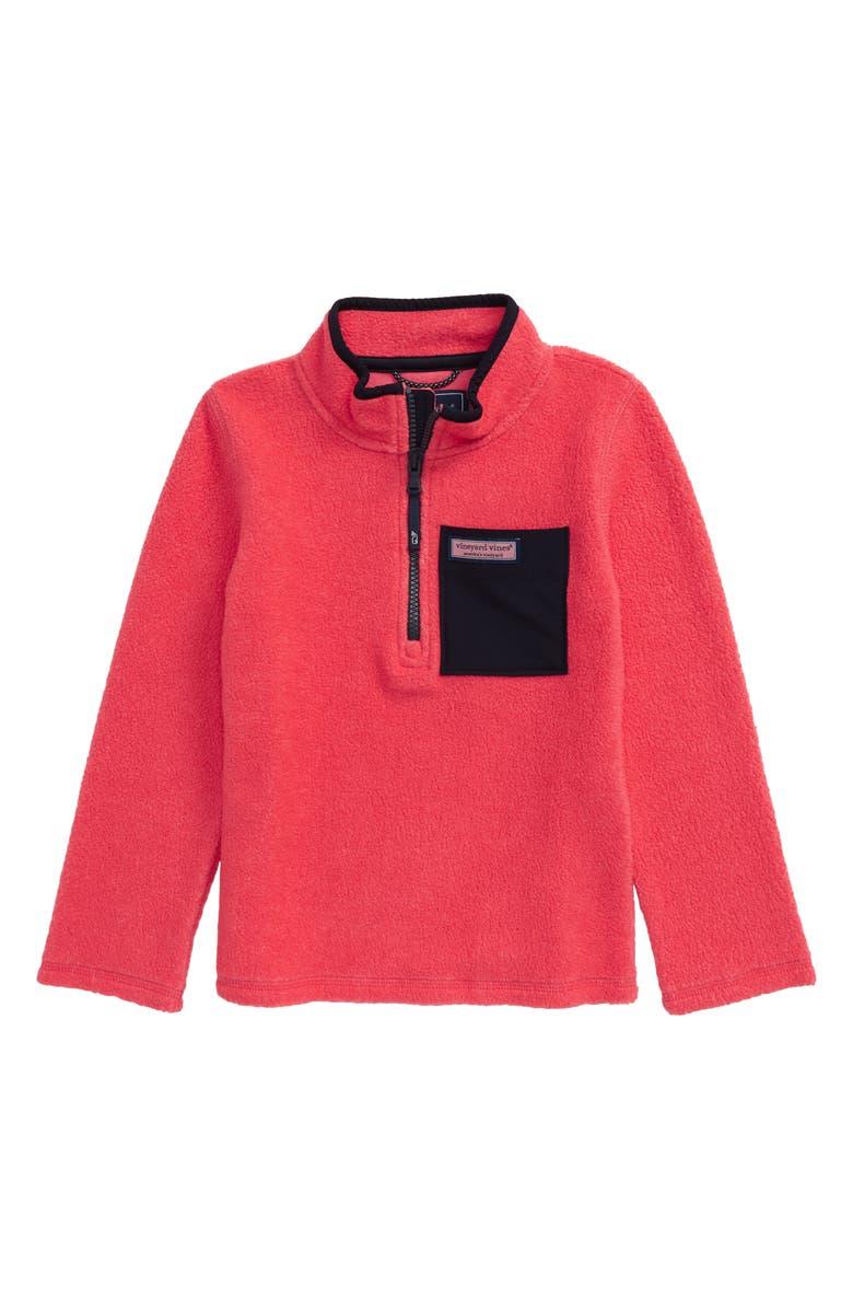 VINEYARD VINES Performance Fleece Pullover, Main, color, CUCKOO