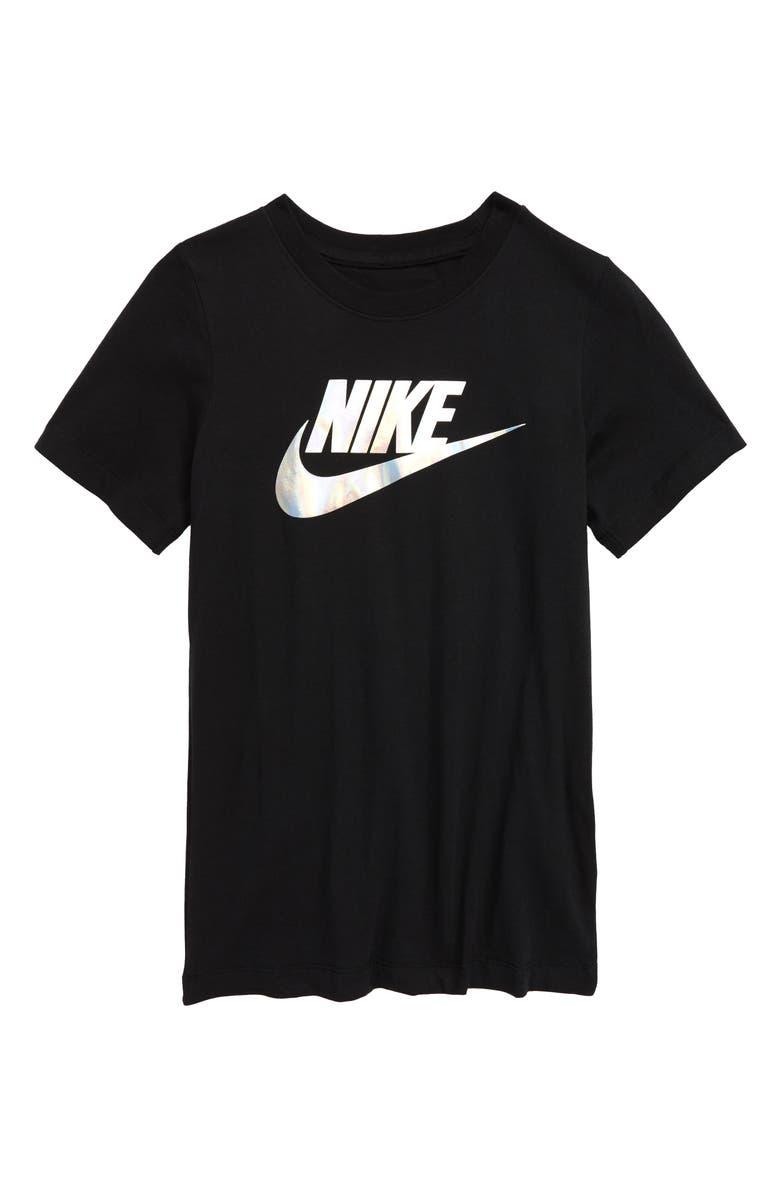 NIKE Sportswear Futura Iridescent Graphic Tee, Main, color, 010