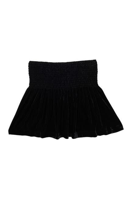 Image of ELLA MOSS GIRL Velvet Smocked Waist Skirt