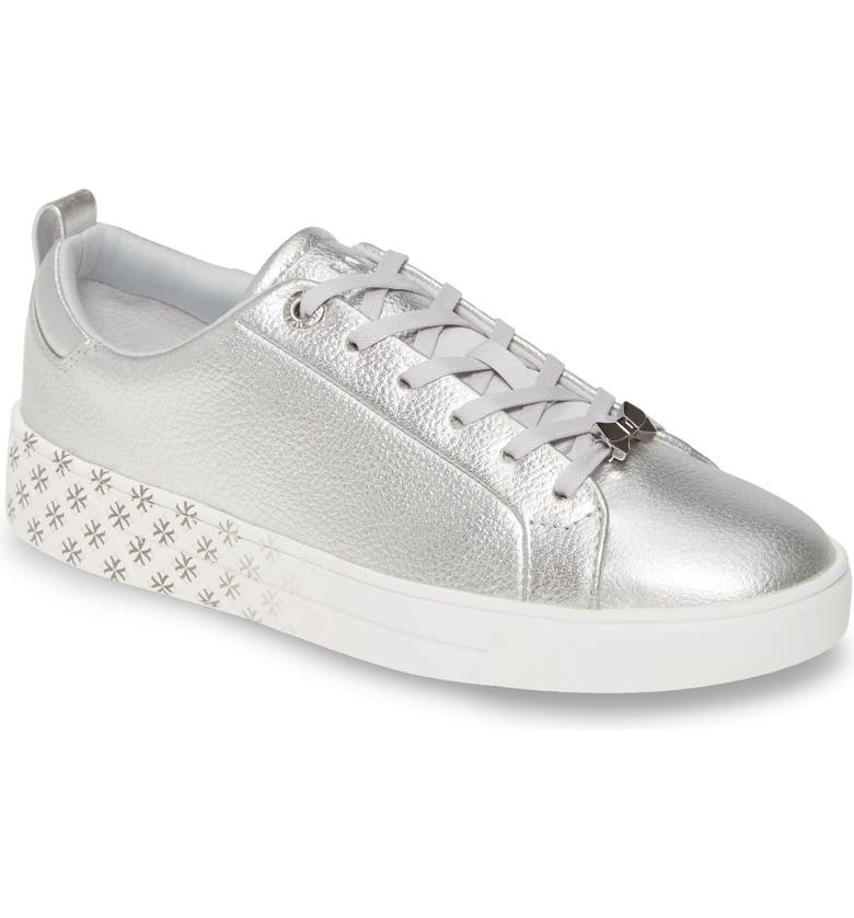 TED BAKER LONDON Roully Sneaker, Main, color, SILVER