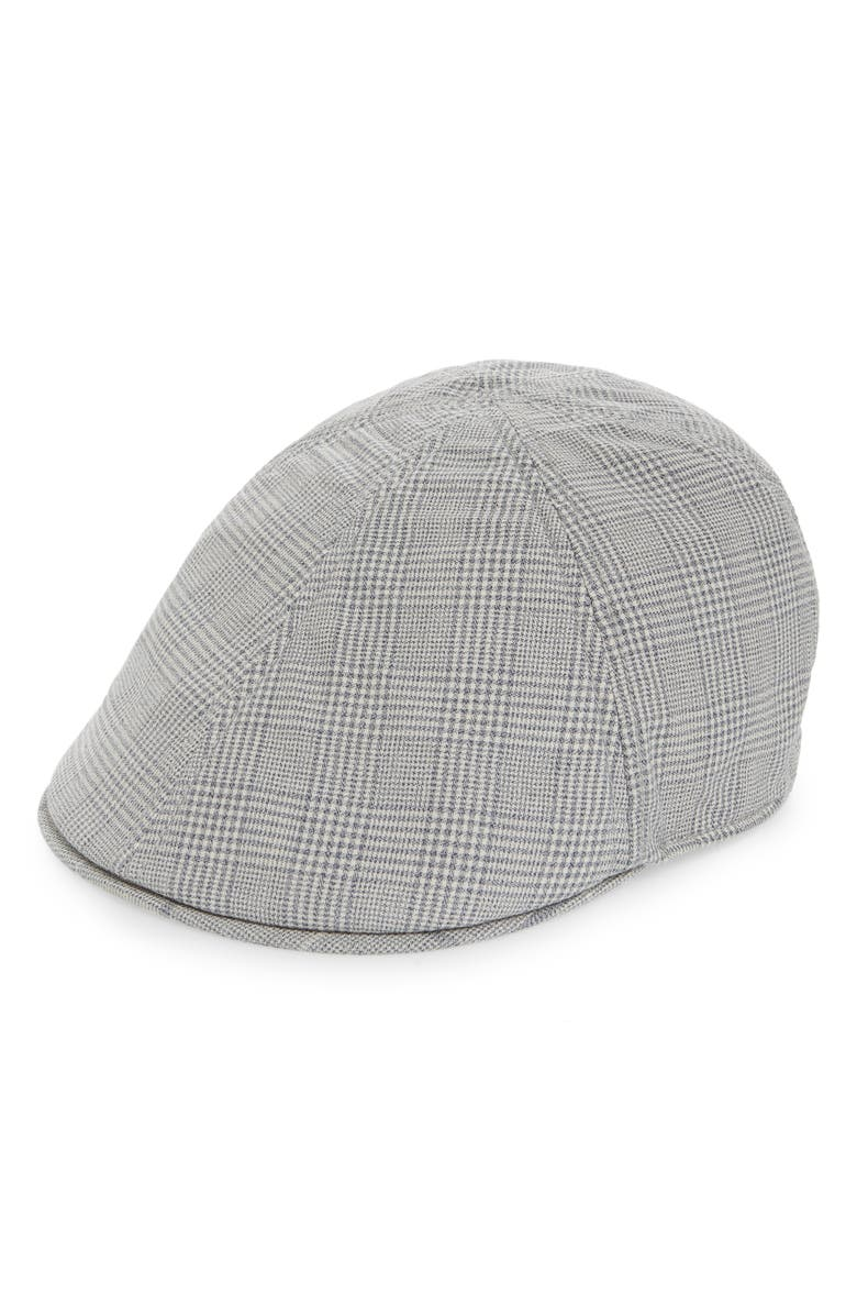 GOORIN BROS. Hazy Days Glen Plaid Driving Cap, Main, color, GREY