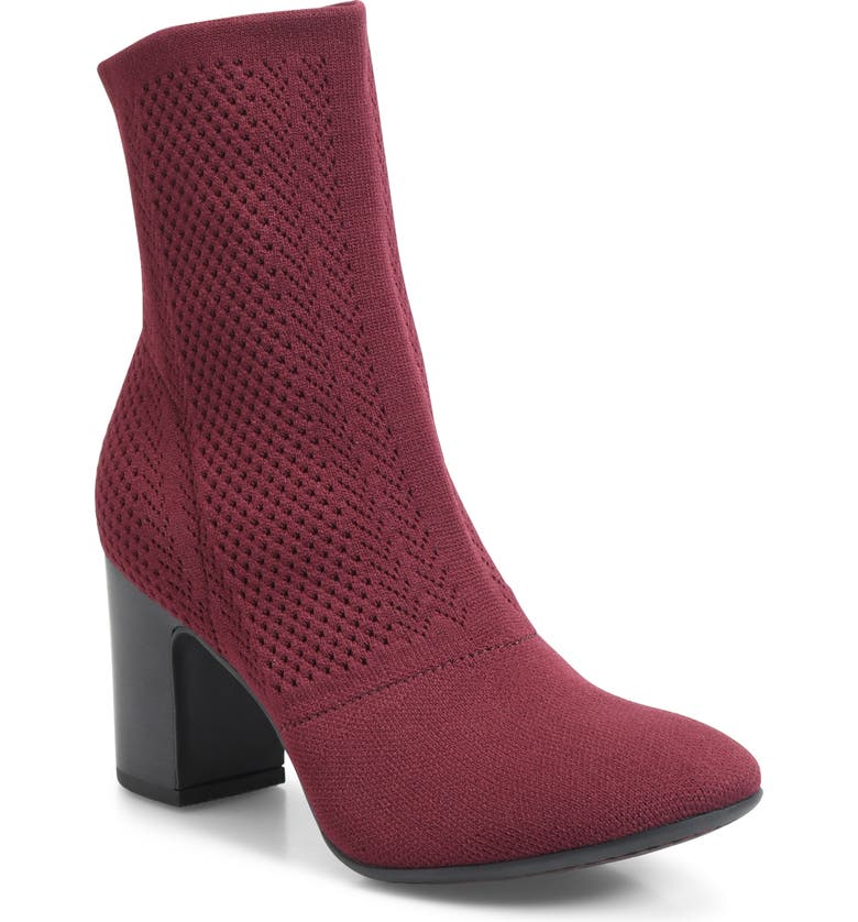 BØRN Meggs Bootie, Main, color, BURGUNDY FABRIC