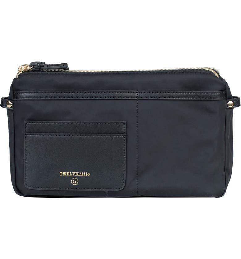 TWELVELITTLE By My Side Water Resistant Nylon Belt Bag, Main, color, BLACK