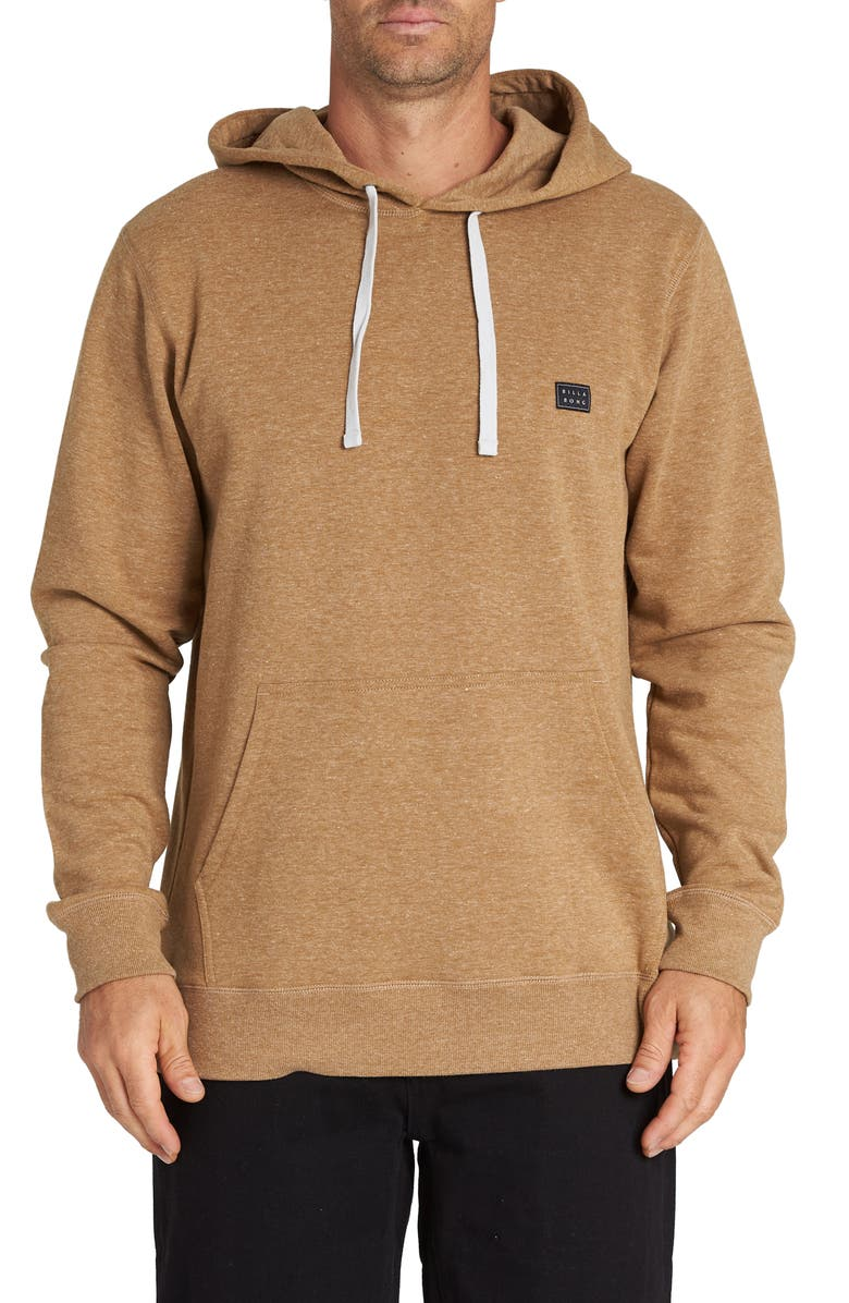 BILLABONG All Day Neppy Pullover Hoodie, Main, color, HASH