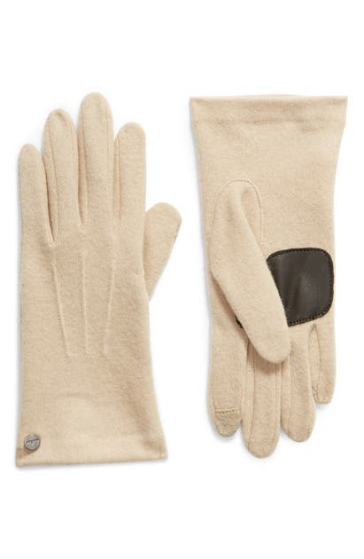Echo Wool & Cashmere Blend Water Repellent Touchscreen Gloves In Oatmeal