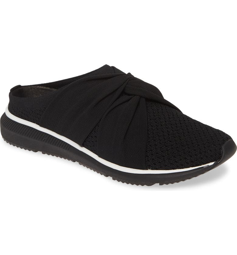 EILEEN FISHER Xenia Sneaker Mule, Main, color, BLACK LEATHER