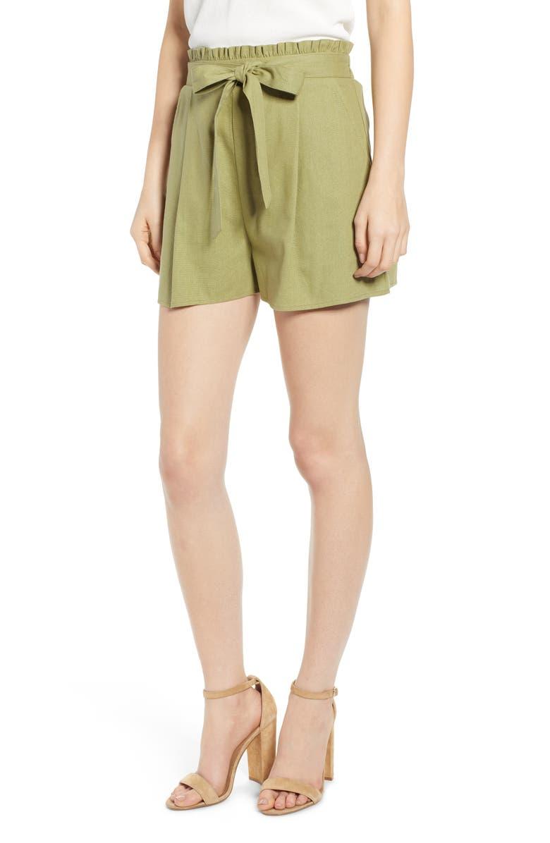 BAND OF GYPSIES Cadiz Tie Waist Shorts, Main, color, 300