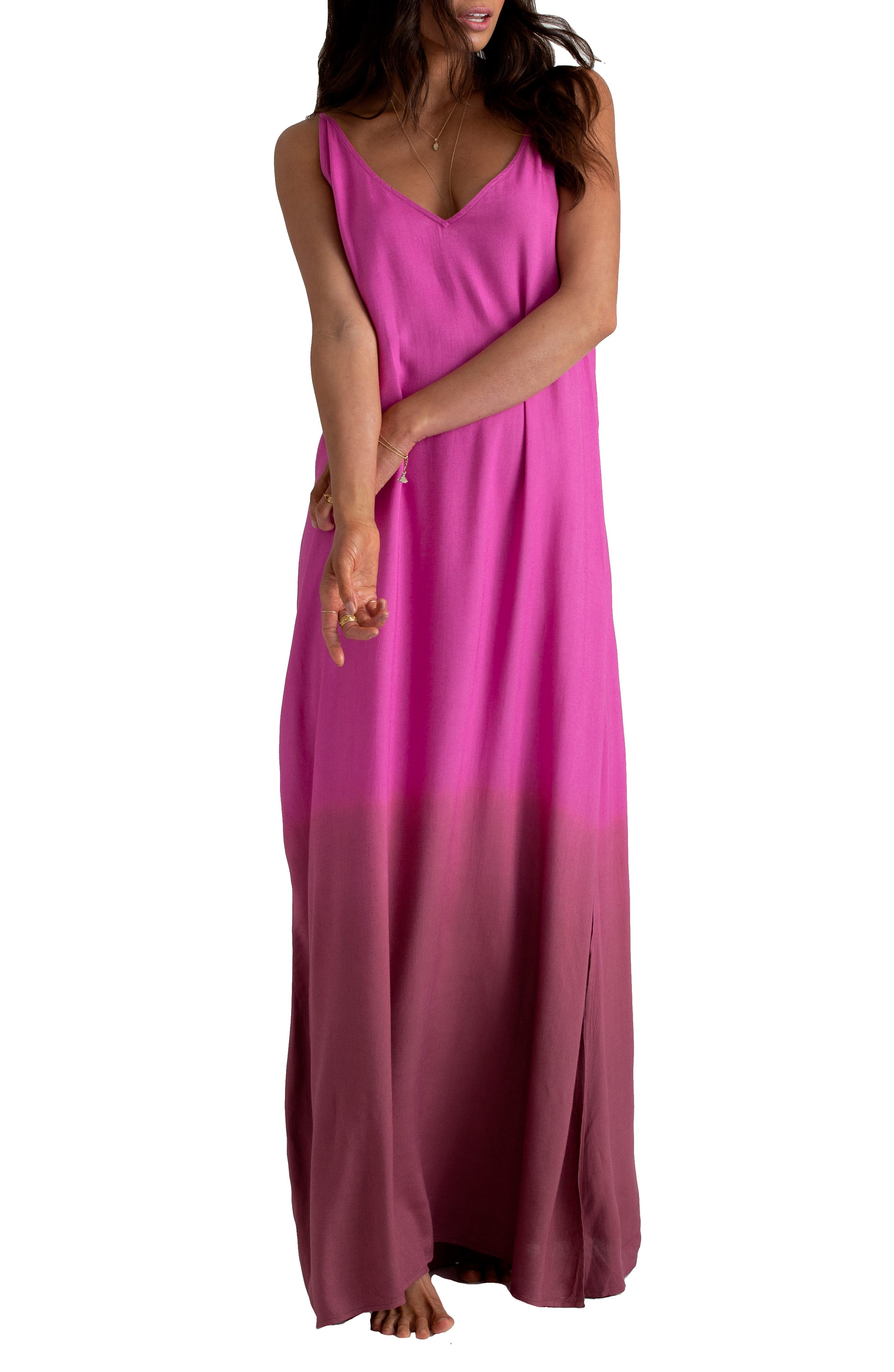 ,                             x Sincerely Jules High Point Maxi Dress,                             Alternate thumbnail 4, color,                             ROSA