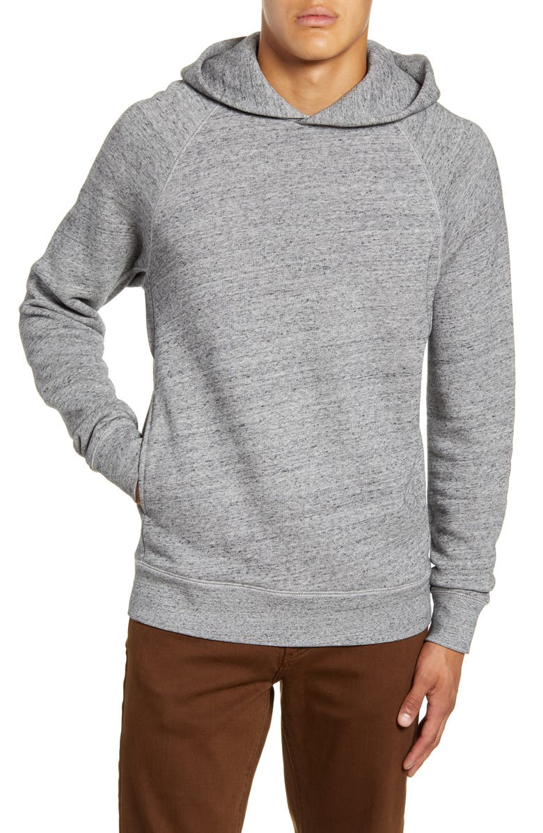 ALEX MILL Heathered Terry Hoodie, Main, color, HEATHER GREY