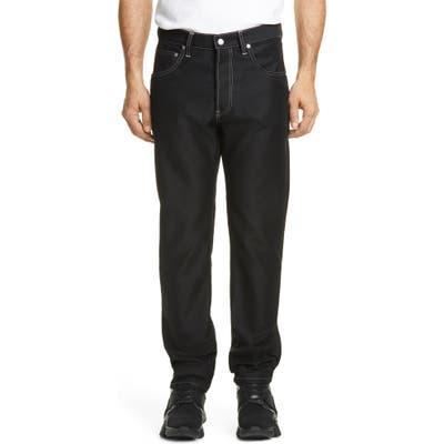 Helmut Lang Masc Hi Black Straight Leg Jeans, Black