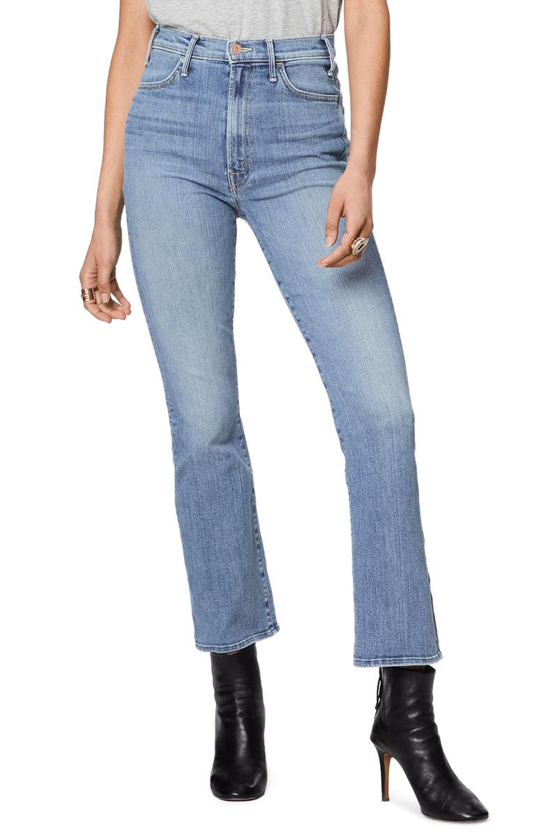 MOTHER The Hustler High Waist Ankle Bootcut Jeans, Main, color, FINAL FRONTIER