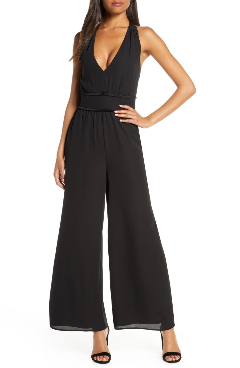 ALI & JAY Patio Please Halter Jumpsuit, Main, color, 001