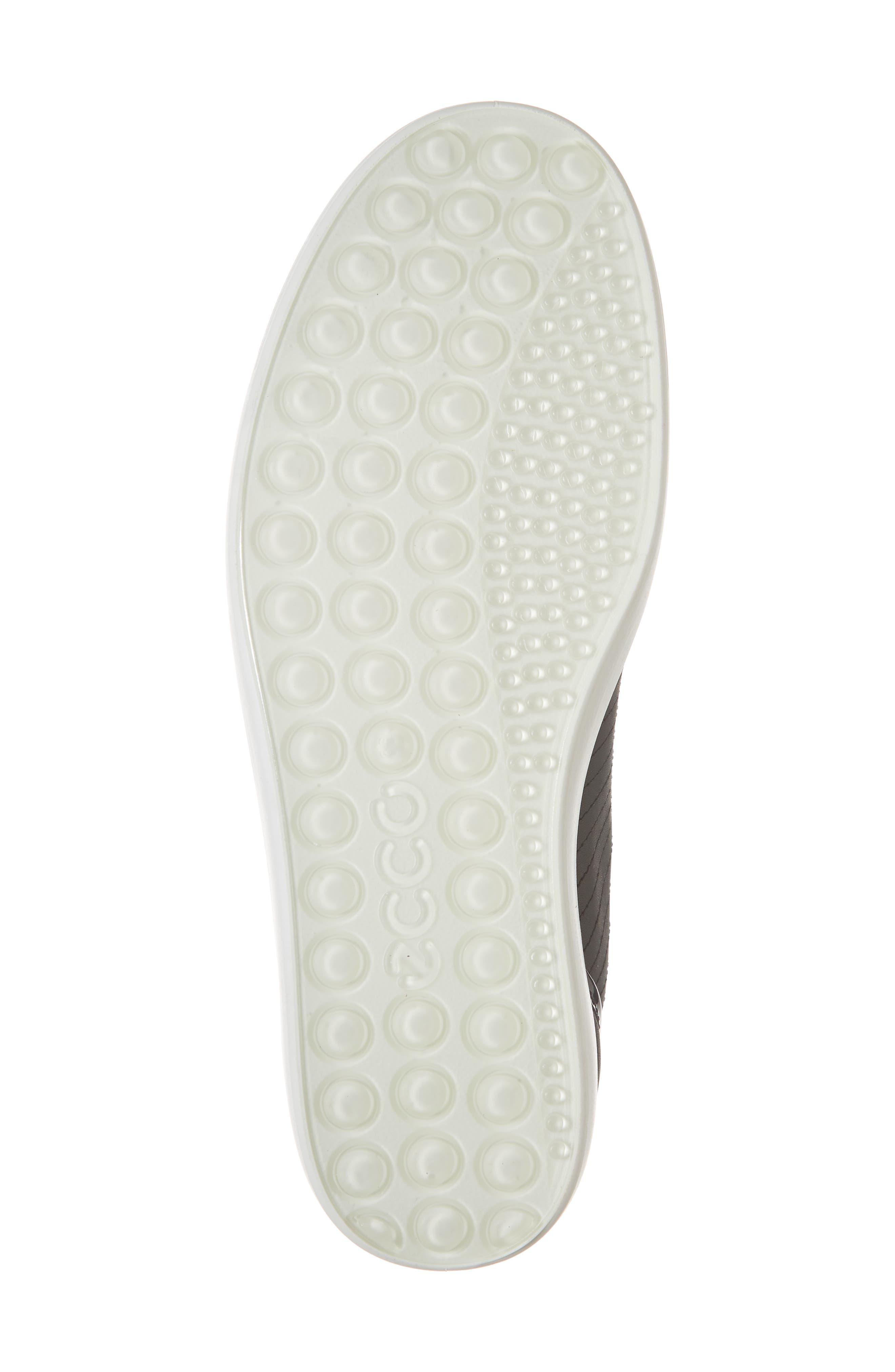,                             Soft 7 Cap Toe Sneaker,                             Alternate thumbnail 6, color,                             BLACK LEATHER