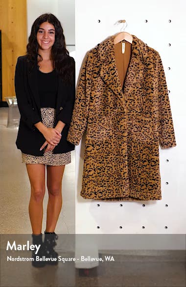 Faux Fur Leopard Coat, sales video thumbnail