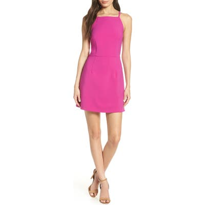 French Connection Whisper Light Sheath Minidress, Pink