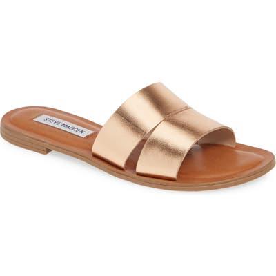 Steve Madden Alexandra Slide Sandal- Metallic