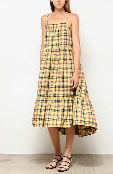 Pumpa Plaid Print Midi Sundress, video thumbnail
