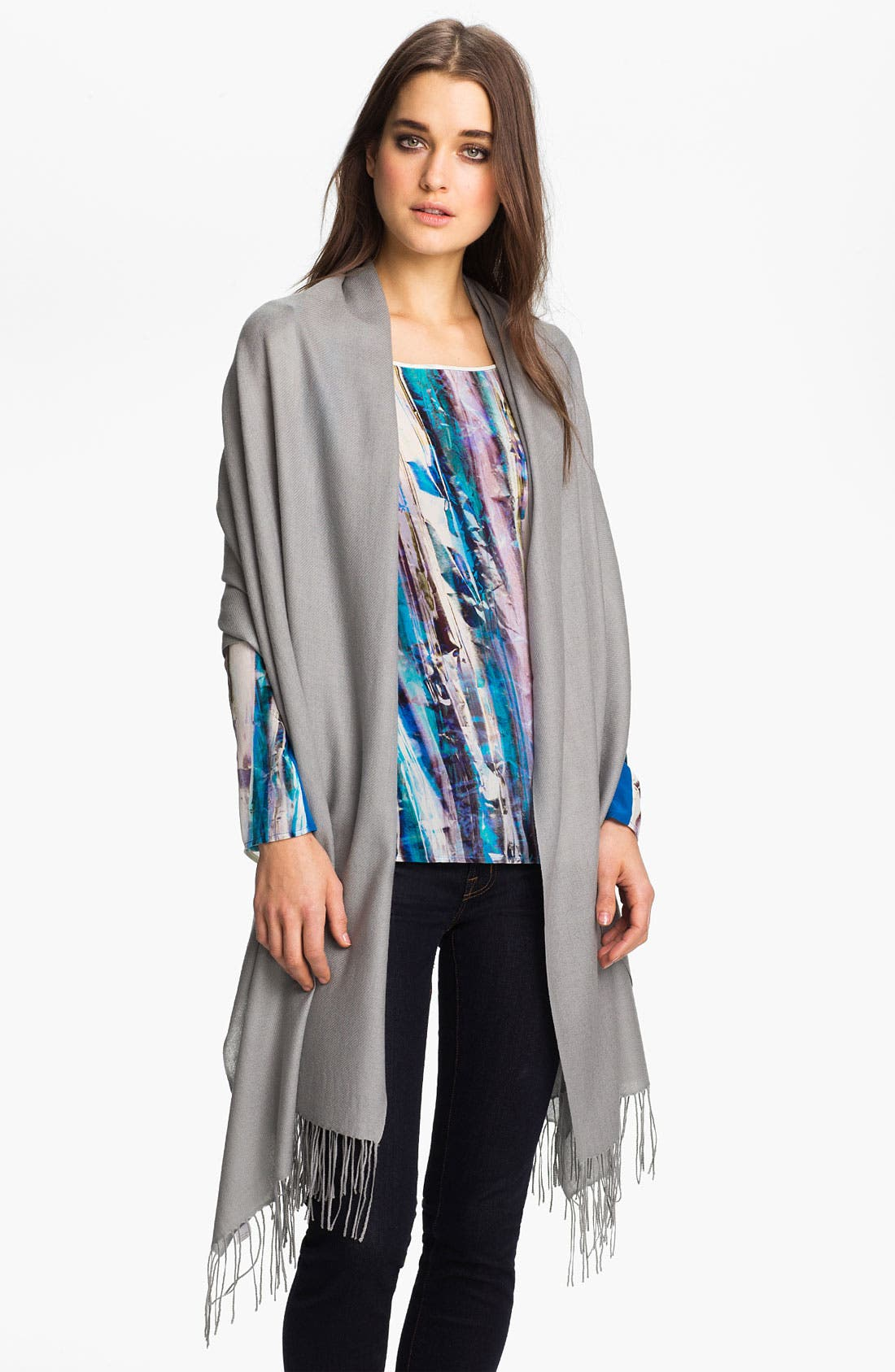 ,                             Tissue Weight Wool & Cashmere Wrap,                             Main thumbnail 12, color,                             065