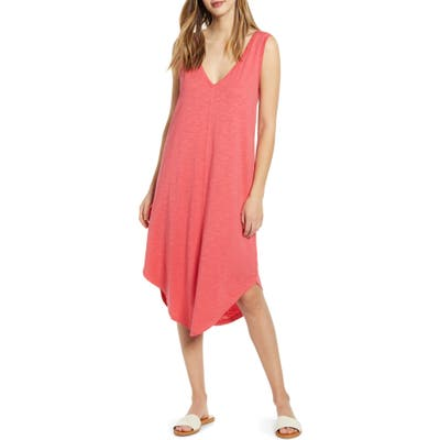 Petite Caslon Knit Tank Dress, Red