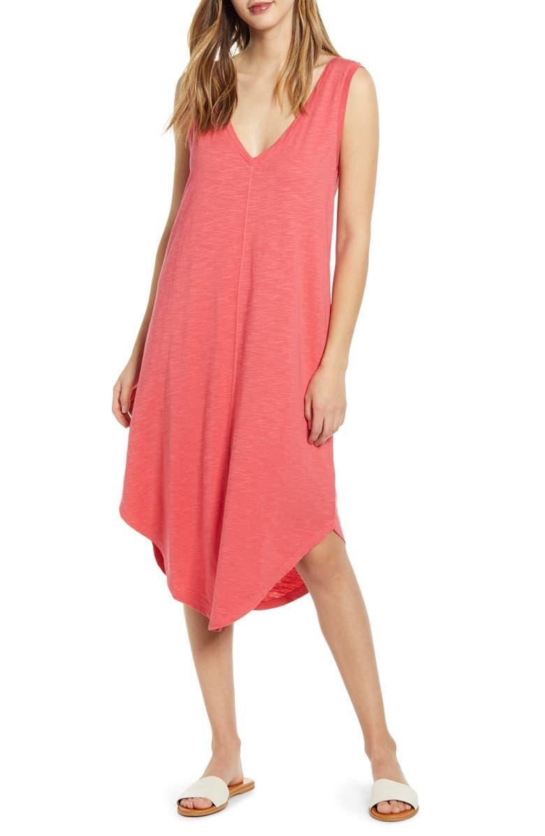 CASLON<SUP>®</SUP> Knit Tank Dress, Main, color, RED CHATEAUX